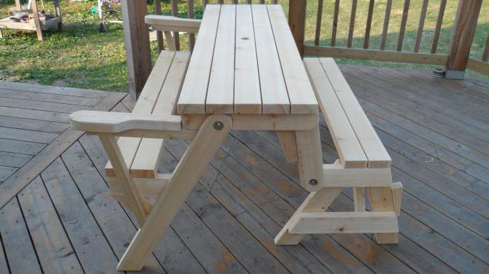 tavolo da picnic pieghevole fatto in casa
