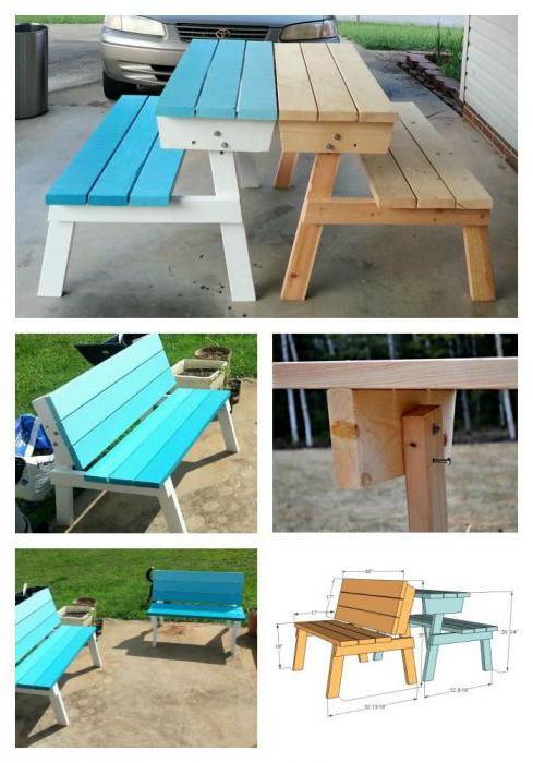 come fare un tavolo da picnic pieghevole