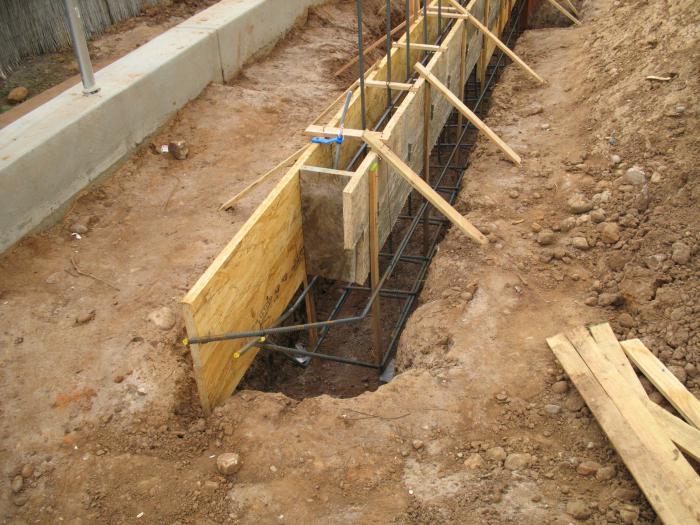 striscia di fondazione per un bagno