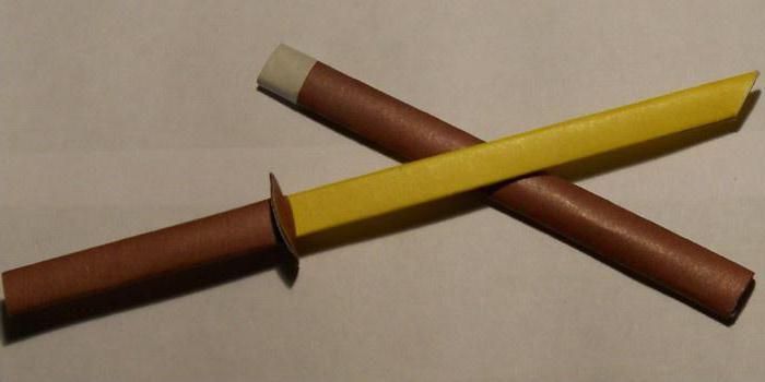 kako narediti papirno shemo katane