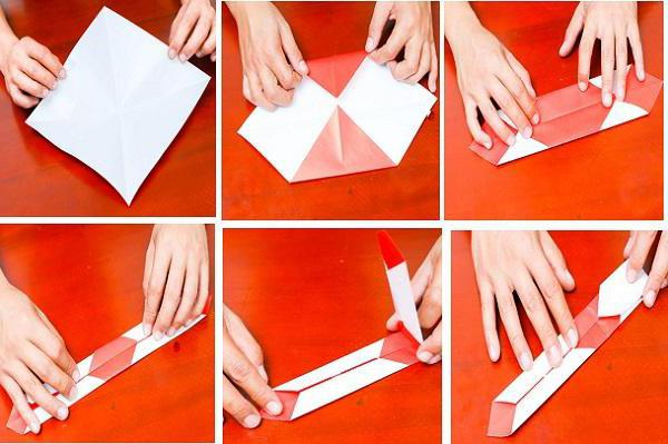 kako narediti papirnato katano