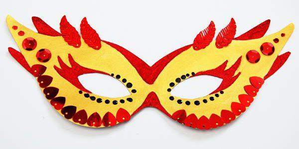 come colorare una maschera di carnevale