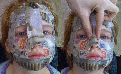 come realizzare una maschera in cartapesta