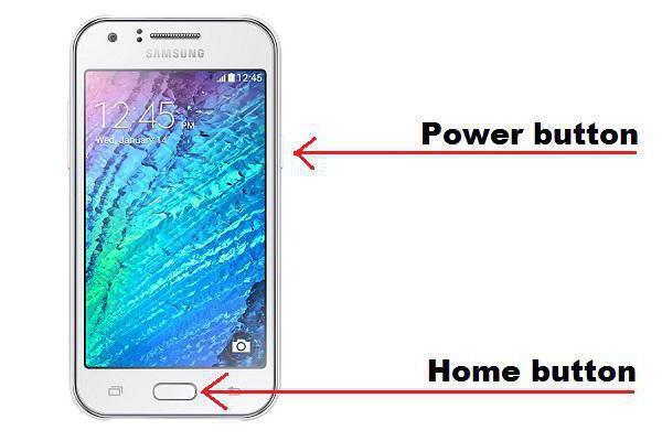 screenshot del telefono Samsung