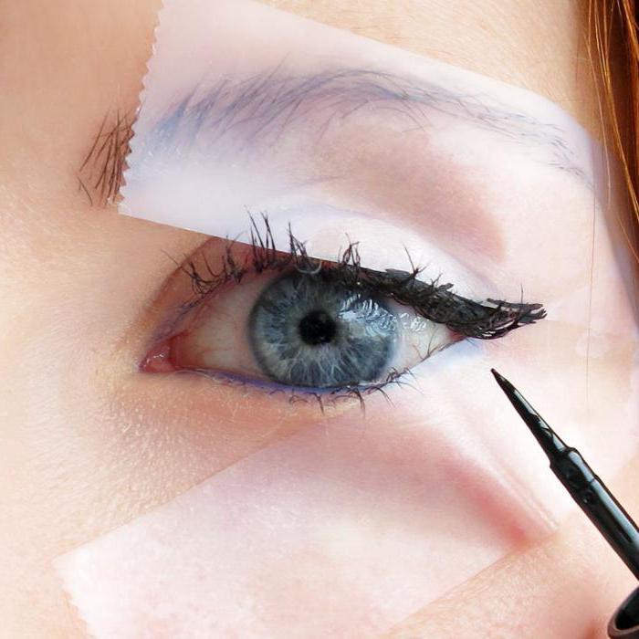 шаблони за рисуване на стрели върху очите