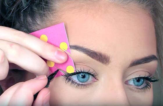 как да направиш шаблон за стрели за очите
