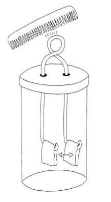 principio di funzionamento dell'elettroscopio