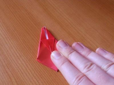 kako napraviti origami tulipan
