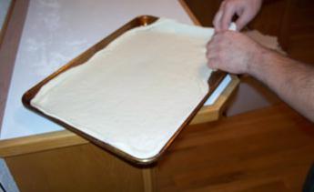 Пизза тесто у рецепту за крух са фотографијама