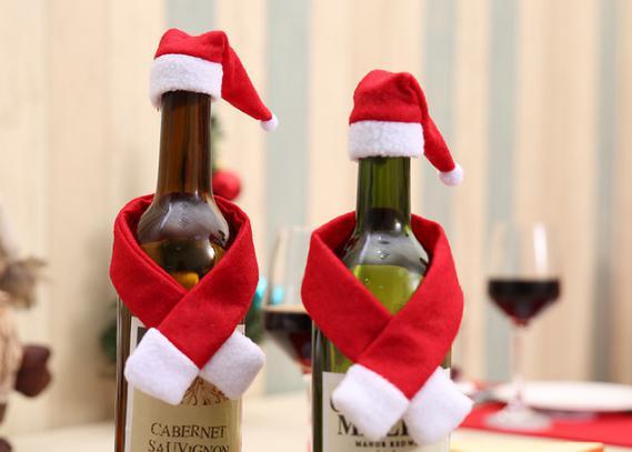 Babbo Natale da una bottiglia