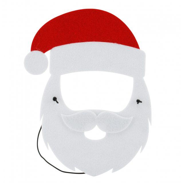 maschera Babbo Natale con le sue mani