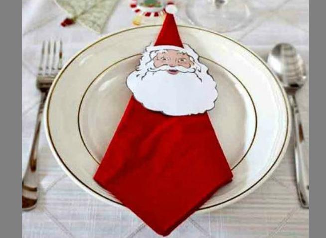 Babbo Natale da un tovagliolo