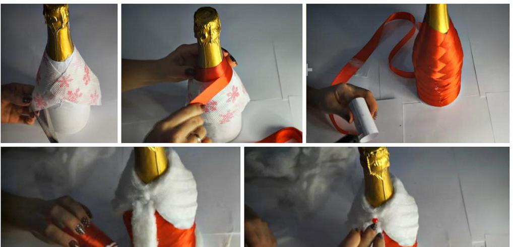 Babbo Natale da una bottiglia di plastica con le sue mani