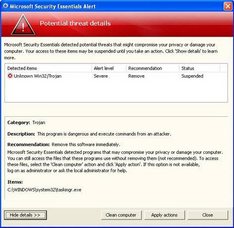 Optimizirajte zmogljivost računalnika, Windows XP