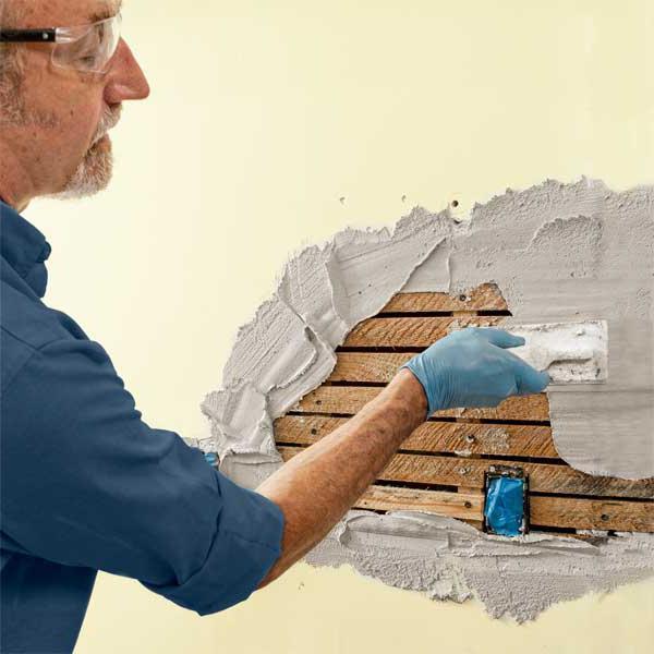 как да се мазилка тухлени стени