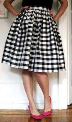 шивати сукњу властитим рукама
