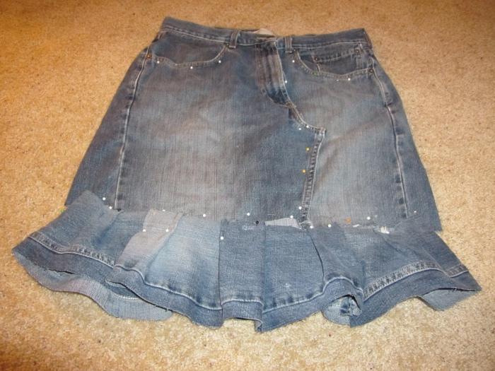 шивати сукњу старих траперица