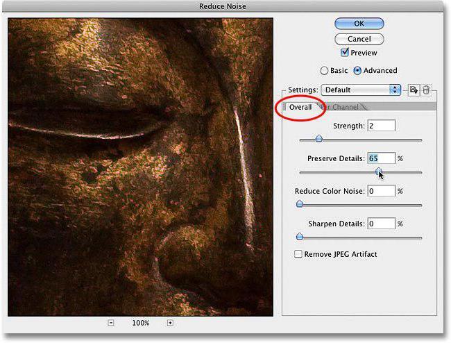 kako odstraniti hrup na fotografijah v photoshopu
