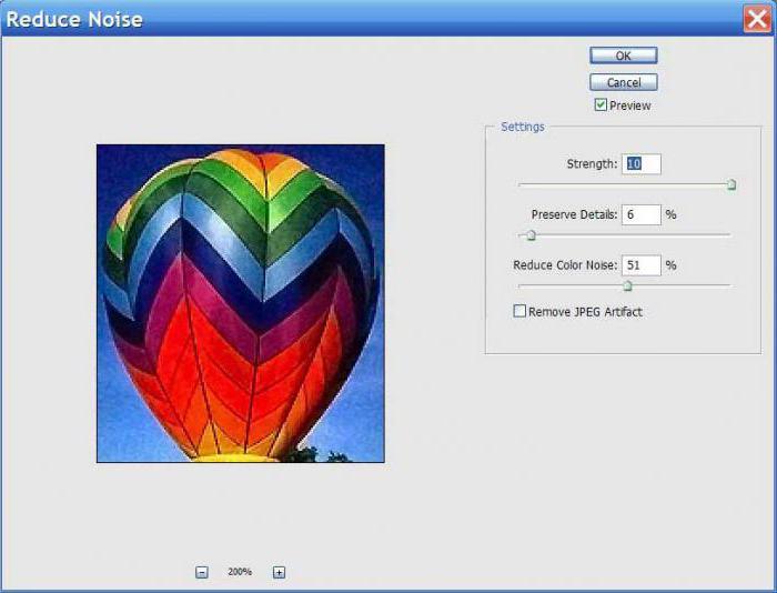 kako odstraniti barvni šum v photoshopu