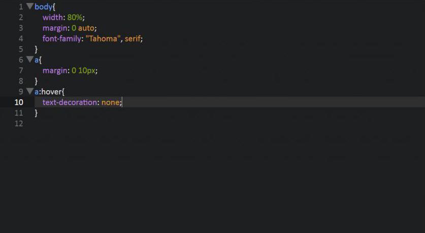 Kod CSS dla zaindukowanego łącza