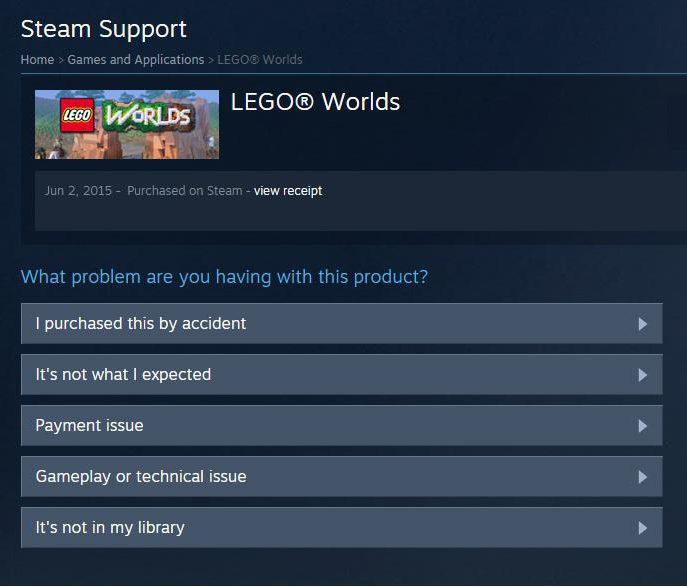 Come restituire i soldi per il gioco su Steam, se non funziona?