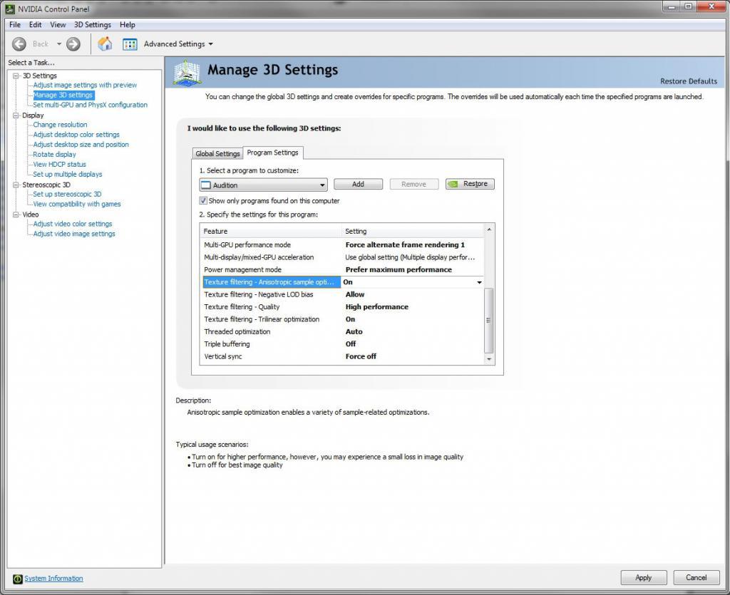 postavljanje NVIDIA video kartice