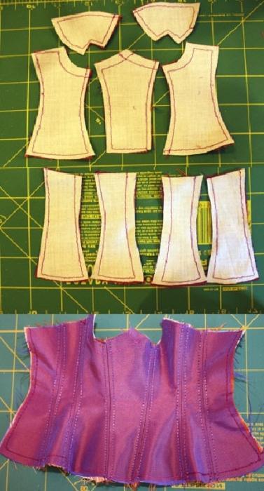 come cucire un corsetto