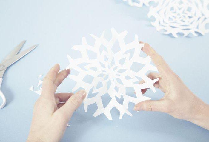 како да залијепимо папирне пахуље на прозор