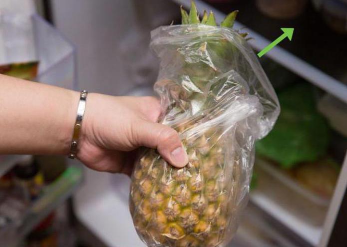 как да съхранявате ананас у дома, за да узреят