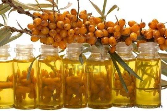 olio per la crescita dei capelli dell'olivello spinoso