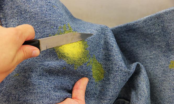 како очистити мрље од боје