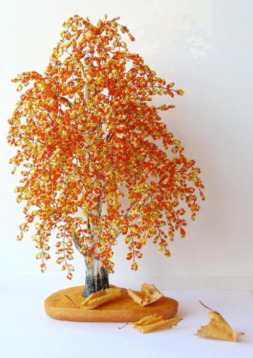 come fare un albero autunnale dalle perline