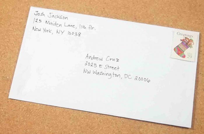 scrivere correttamente l'indirizzo in inglese
