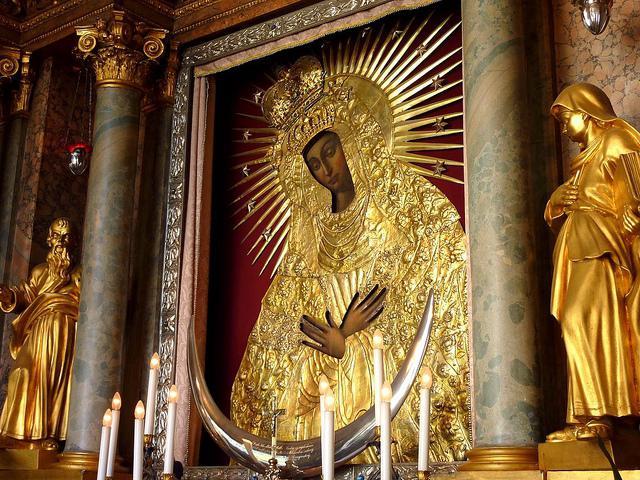 Icona di Ostrobramskaya della preghiera della Madre di Dio