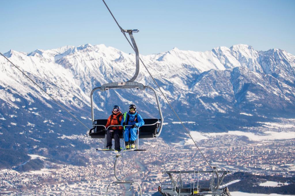 Инсбрук - ски курорт в Австрия