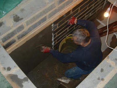 inspekcijsku jamu u domaćoj izradi u garaži