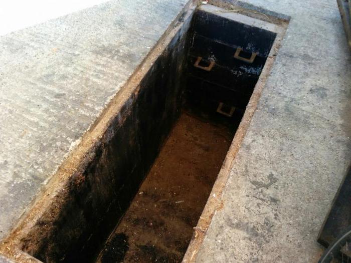 inspekcijsku jamu u garaži vlastitim rukama od željeza