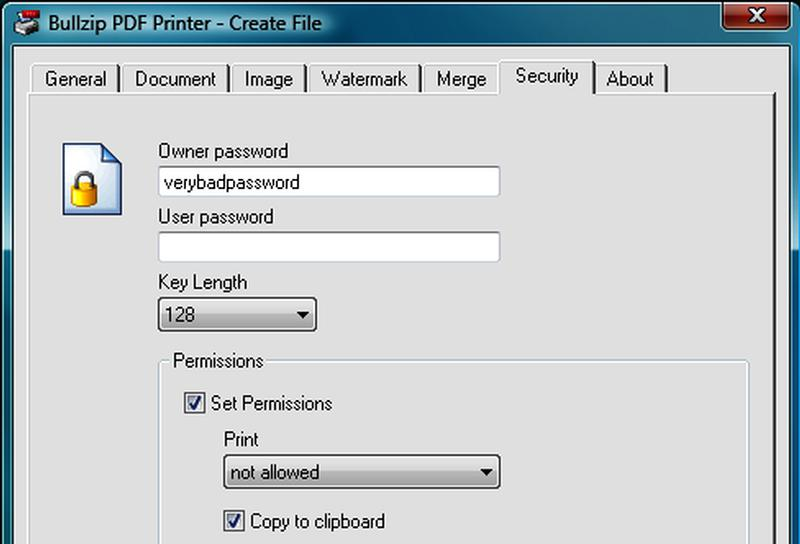 Виртуален принтер BullZIP PDF принтер