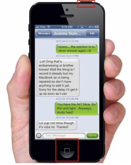 come fare uno screenshot su iphone