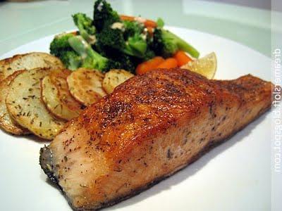 ricetta fritta salmone rosa