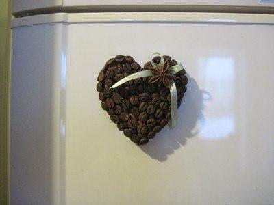 artigianato fatto di chicchi di caffè fai da te