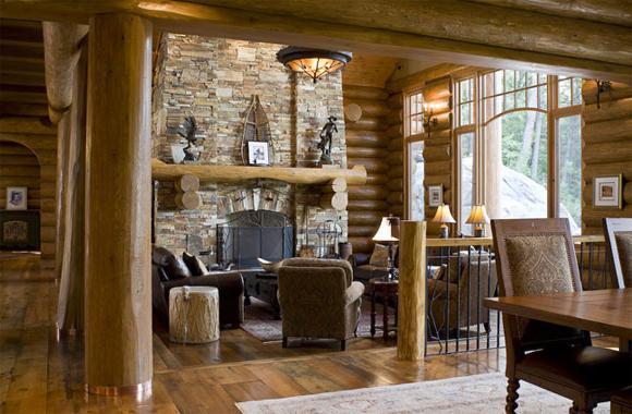 stile interno in stile rustico