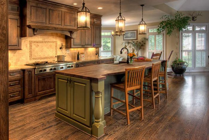 interno cucina rustica