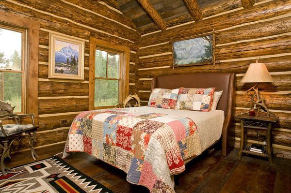 stile rustico all'interno del cottage
