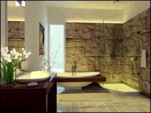 интериор на голяма баня с тоалетна