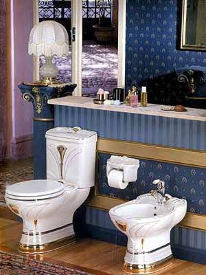 вътрешни бани, комбинирани с дизайн на тоалетна