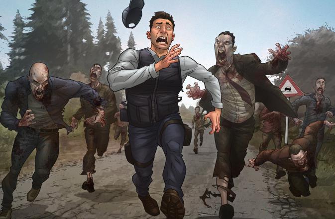 pobjeći od zombija u snu