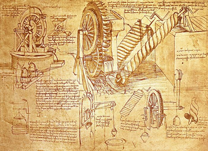 vynálezy leonardo da vinci seznam
