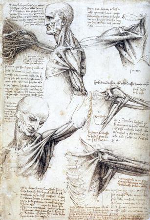 malování Leonardem da Vinci