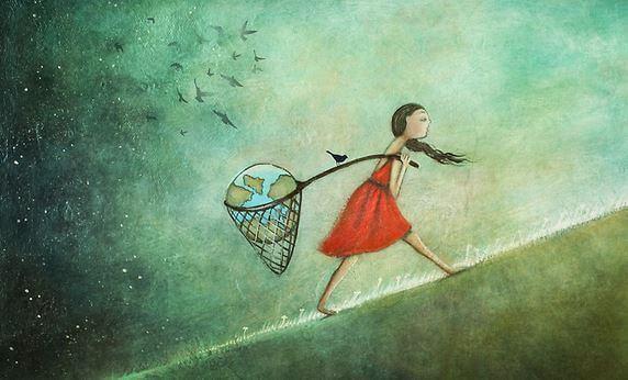 Dívka s pozemkem v křižovatce
